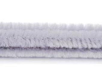 "100 Gray Chenille Stems (12"" x 6mm)"