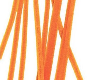 "100 Orange Chenille Stems (12"" x 6mm)"