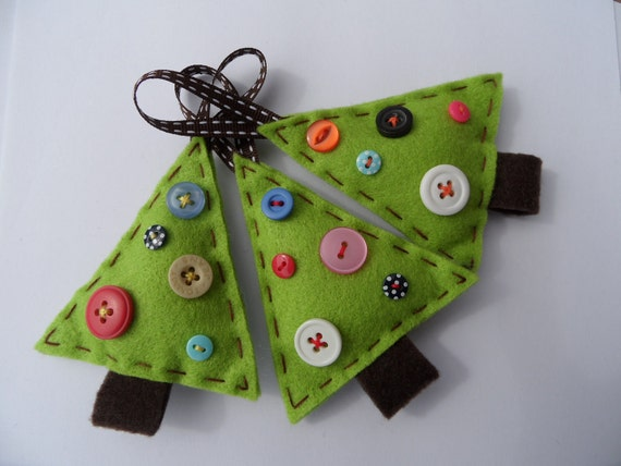 Items Similar To Felt Christmas Tree Decorations On Etsy
