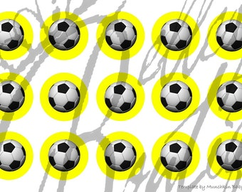 Yellow with Soccer balls