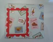 Retro / kitchen theme scrapbook style photo magnet