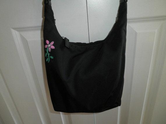 Coach Microfiber Custom Decorated Black Shoulder Bag