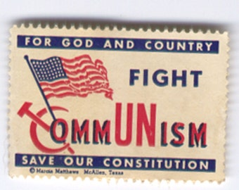 U S A Stamp Postal History Local FIGHT COMMUNISM Fight for God and Country Save our Constitution