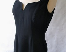 Vintage Anna Sui Black Dress 1980's Vintage Anna Sui Dress s