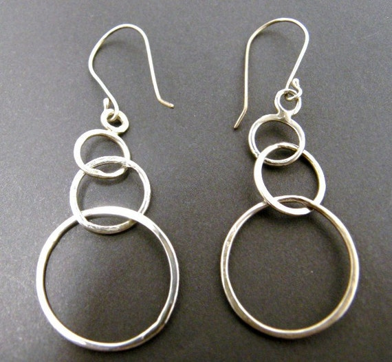 Simple Triple Circle Hoop Earrings
