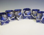 Set of 6 Tri Footed Wine Cups