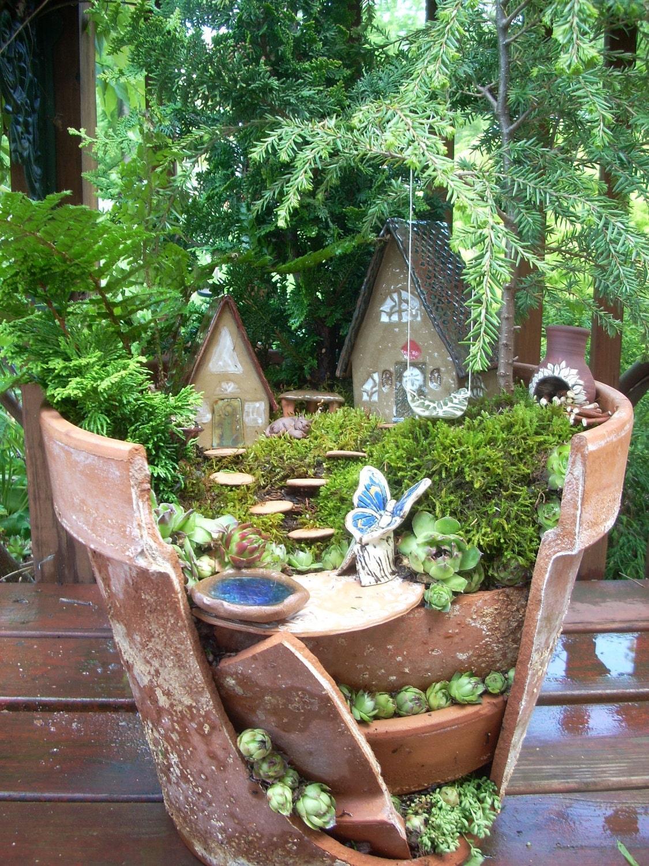 Fairy garden broken planter kit for Fairy garden kits