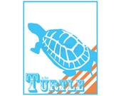 T is for Turtle - Print - Alphabet Art Poster 8x10 - Nursery Decoration - Kids Room - ABC Letters