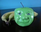 Paperclay Apple Sculpture