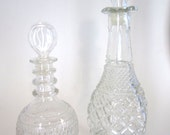 Glass Decanters - One reserved