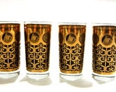 Set of 4 Gold Mountain Glassware
