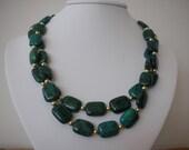 Azurite Chrysocolla Necklace