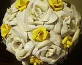 Personalized Bridal Bouquet -- Pearls and Posy
