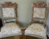 Set of Two Vintage Eastlake Chairs with New Upholstery On Sale
