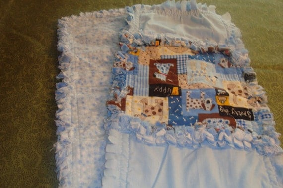 ASSORTED PUPPIES and  set of 2 burp cloths