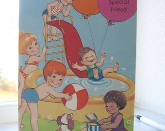 Vintage Children Birthday Card