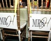 MR. & MRS. Chair Signs  (Last minute orders okay)