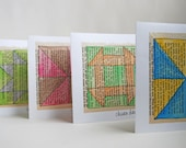 Traditional Quilt Block Card Set (set of 4)