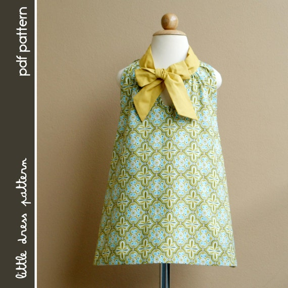 Sara Dress - PDF Pattern - Size 12 months to 8 years old and tutorial, PDF Downloadable, Easy Pattern