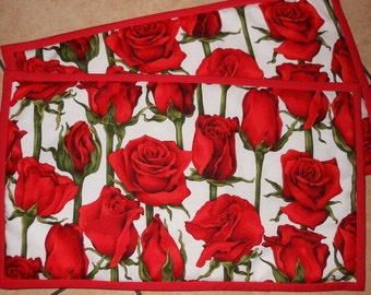 Beautiful Red Rose Placemats