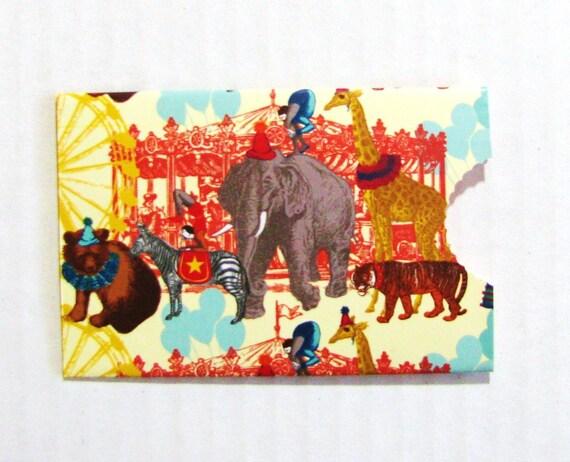 Carnival Circus Gift Card Holder Money Holder Business Card Holder