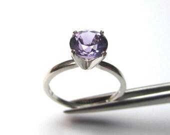 Wonderful Genuine Amethyst in Sterling Silver Ring