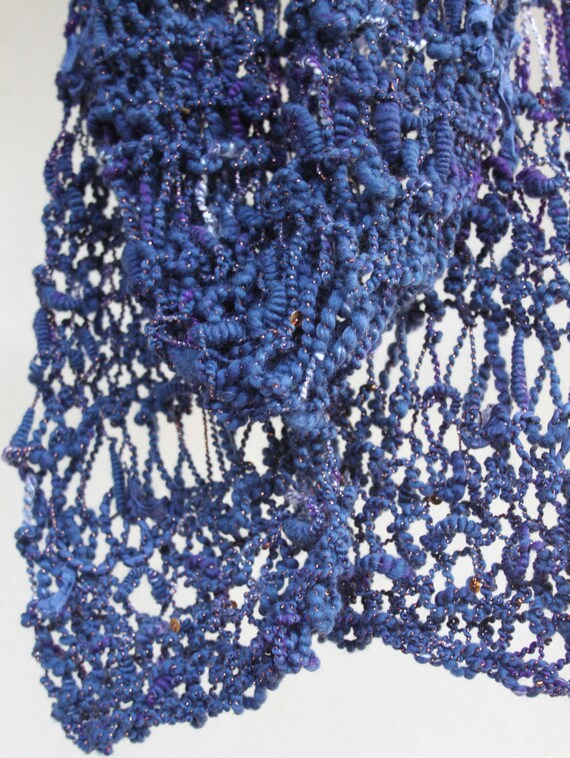 Ravenclaw Scarf Knitting Pattern : Hand Knit Scarf Ravenclaw Tower from Harry Potter Blue with