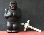 Vintage 17 inch King Kong coin bank. Circa 1960s.