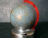 Miniature glass celestial globe. 1950s