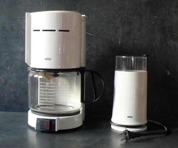 Coffee Maker With Coffee Grinder : Vintage Braun Coffee maker and matching Coffee grinder.