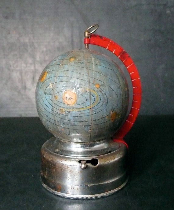 Miniature glass celestial globe. 1950s
