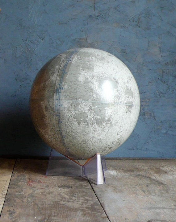 12 inch Rand McNally Moon Globe. Perfect condition.