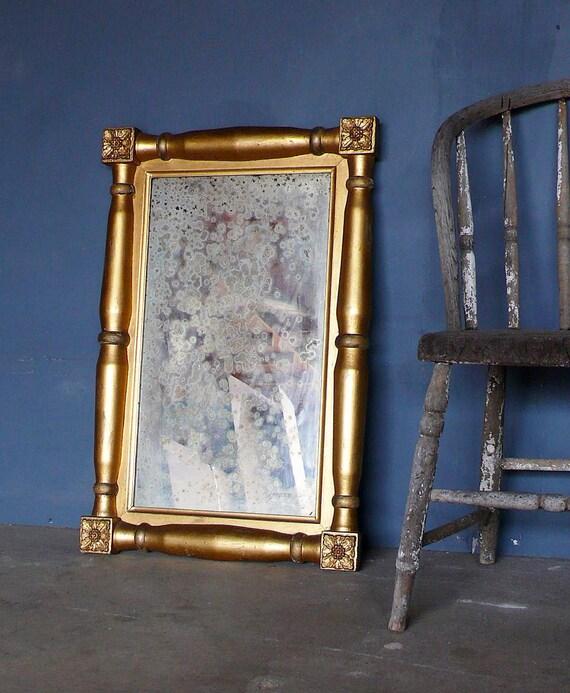 Large 19th Century Gilt Wood Mirror