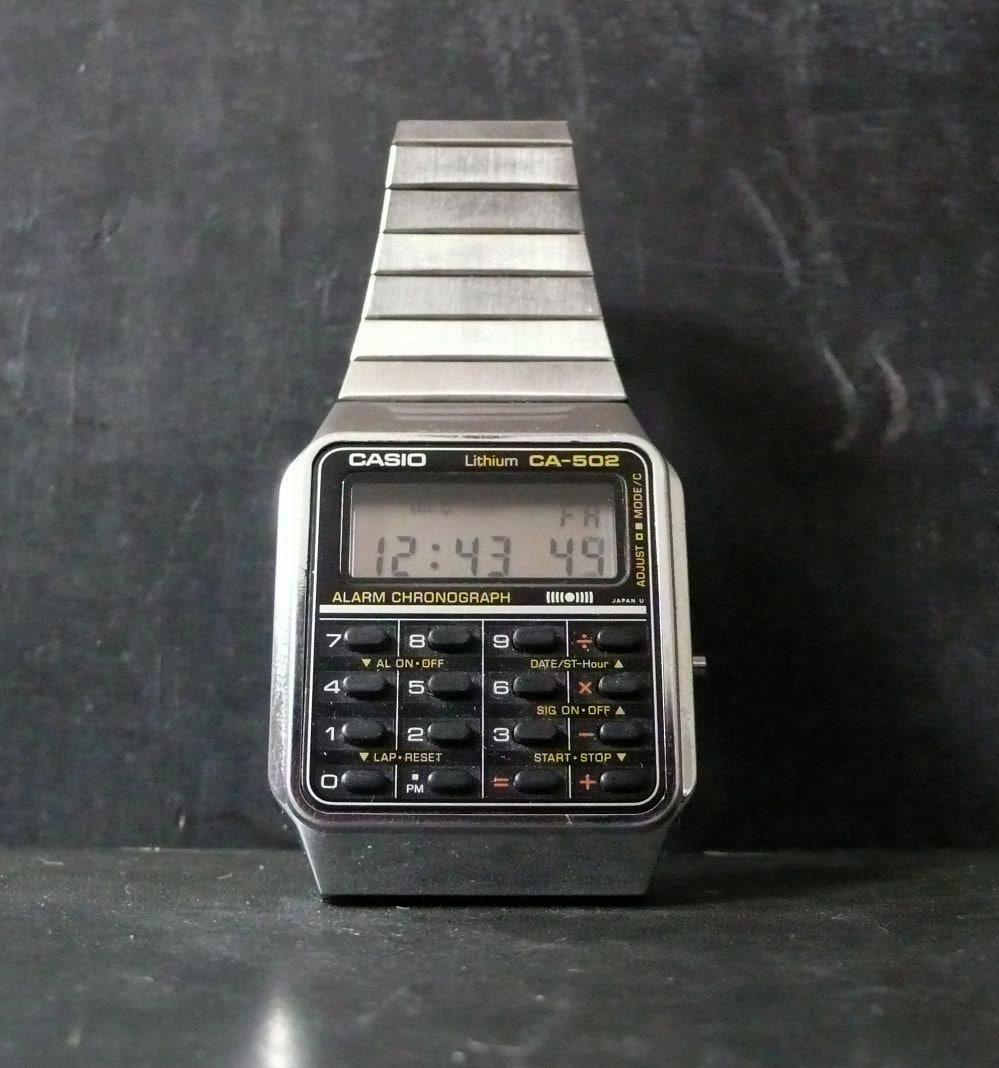 1980s casio digital calculator ca 502 437