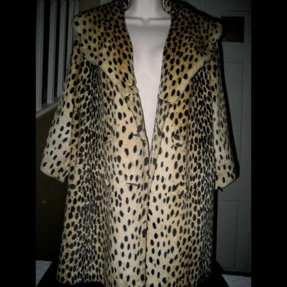 Leopard Fur Coat...Mid Century. Excellent Condition