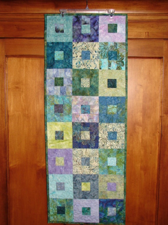 Spring Green and Lilac Table Runner