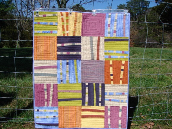 Bamboo sticks wall quilt