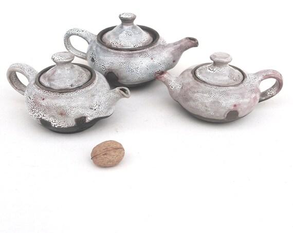 One little teapot  crawle glaze and smoked