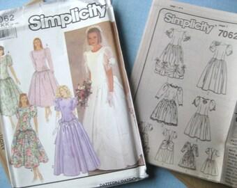 Simplicity 7062 Wedding Dress, 8-14, uncut factory folded