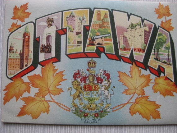 Vintage Ottawa post card folder