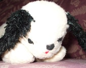 Vintage Straw Stuffed Sleepy PUPPY DOG Old 1940s or 1950s