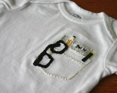 Pocket Protector Hand Embroidered Onesie