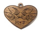 Sailor Jerry Love Birds Pendant / Personalized