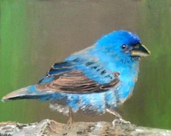 Little Bird Blue Painting