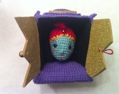 Jambi from Pee-wee's Playhouse Crochet Amigurumi Pattern