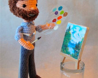 Peaceful PBS Painter Crochet Amigurumi doll Pattern