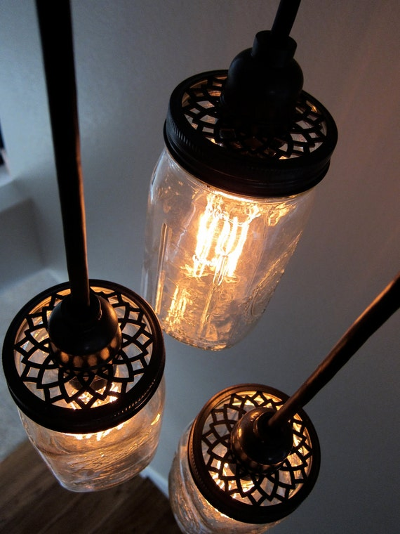 10 Pack, Custom Aluminum Lids For Mason Jar Pendant Lighting & Chandeliers, Includes Compatible Phenolic Lamp Sockets
