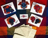 Day of the Dead Greeting Cards Set of 5