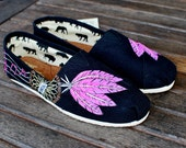 Hand Painted Musical Dream Catcher TOMS shoes