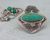 Amazonite Fine Silver Pendant